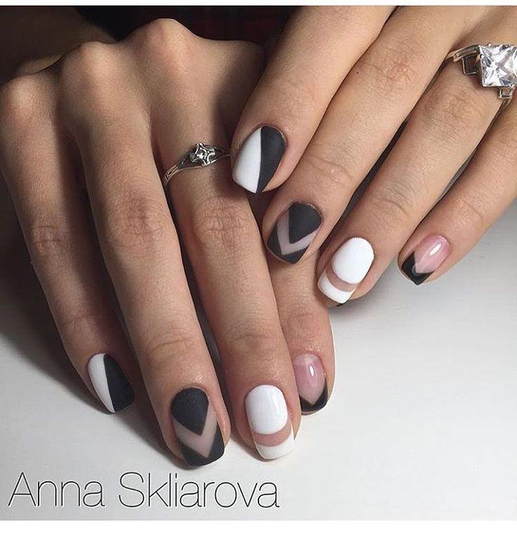 12 отметок «Нравится», 1 комментариев — Skliarova Anna (@skliarova.nails) в Instagram: «Дизайн выполнен вручную 💅🏽 #nailsart_anika #nails #manicure #ногти #дизайн #шеллак #гельлак…»