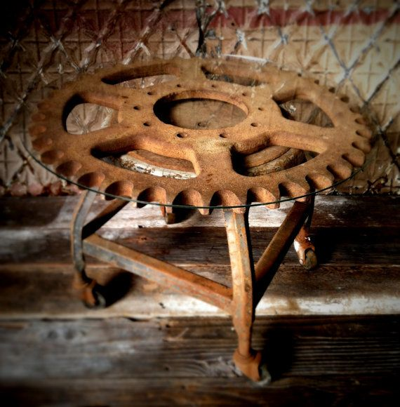 Large Antique Industrial Gear Vintage Cast Iron by IronAnarchy, $199.00