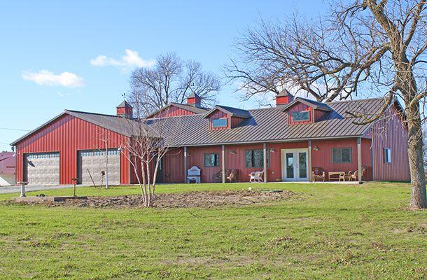 Pole Barn House & Garage - Lester Buildings Project #: 219595