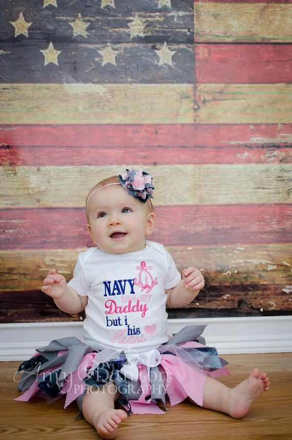 LOVE THIS... I can definitely see Whitney wearing this when Daddy gets back!  ;)  ***  US Navy Military Camo Tutu by Audrey'sTutus (On Etsy).