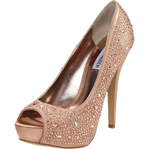 Amazon.com | Steve Madden Women's Cycile Platform Pump, Rose Gold, 7.5... (£39) ❤ liked on Polyvore featuring shoes, pumps, steve madden, rose gold pumps, rose gold shoes, wide pumps and wide width pumps