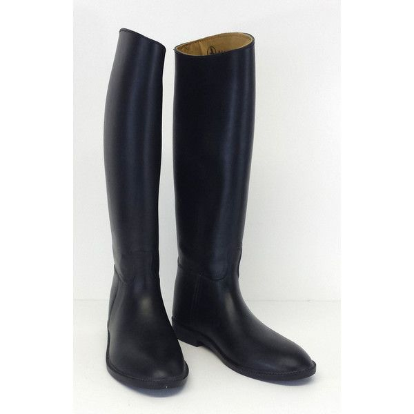 Pre-owned Aigle- Black Start Slush Equestrian Rubber Boots Sz 7 (864.300 IDR) ❤ liked on Polyvore featuring shoes, boots, water proof boots, equestrian boots, waterproof wellington boots, wellies boots and black boots