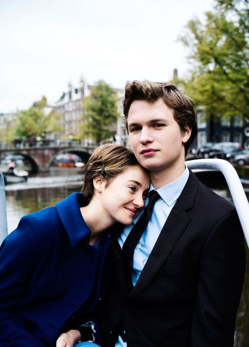 Hazel Lancaster (Shailene Woodley) and Gus Waters (Ansel Elgort) from The Fault in Our Stars #TFIOS