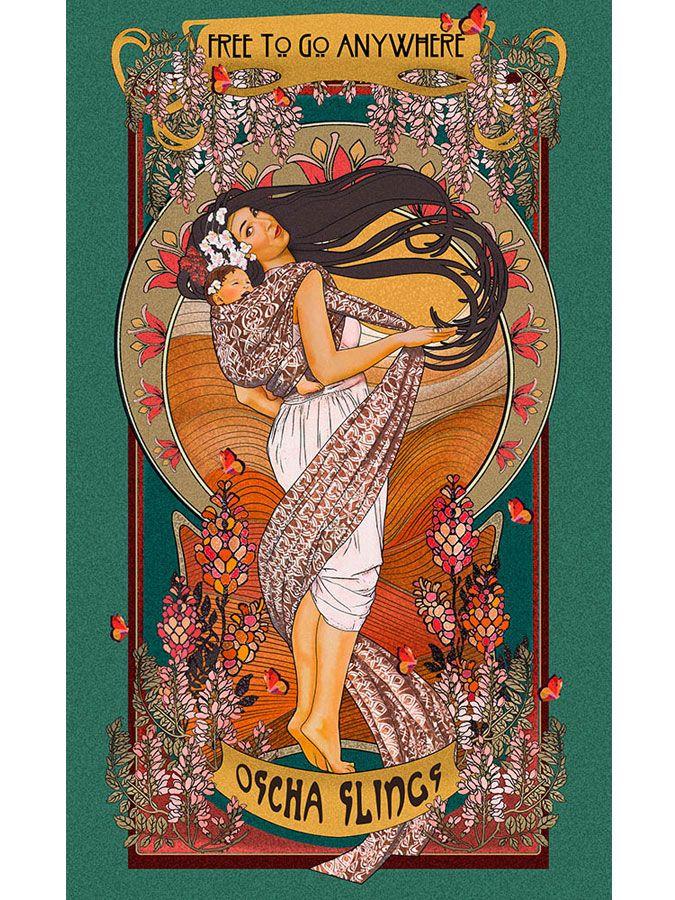 Art Print Art Nouveau Free To Go Anywhere