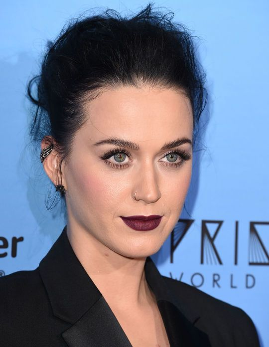 Katy Perry in dark lipstick