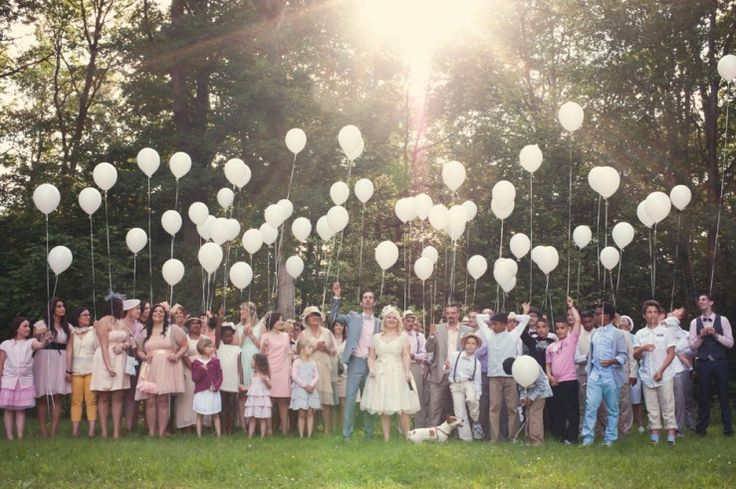 ballons hélium pr photo de groupe