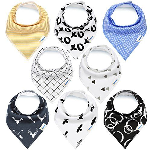 KiddyStar Bandana Baby Bibs for Boys and Girls, 8-Pack Drool Bib Set, 100% Organic Cotton, Soft and Absorbent, Newborn and Baby Shower Gift for Drooling and Teething. For price & product info go to: https://all4babies.co.business/kiddystar-bandana-baby-bibs-for-boys-and-girls-8-pack-drool-bib-set-100-organic-cotton-soft-and-absorbent-newborn-and-baby-shower-gift-for-drooling-and-teething/