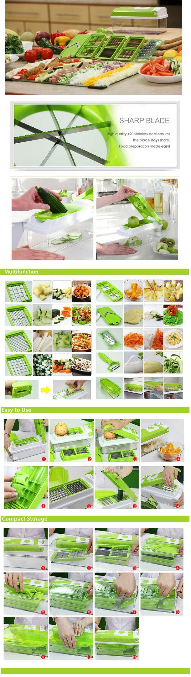 Nicer Vegetable Slicer & Dicer Plus Multifunction Cutter