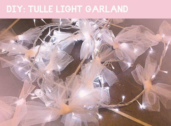 Tulle Light Garland, DIY Project, Craft Project, How-to, Tutorial, Wedding Decor, Wedding DIY, Wedding Craft (2)