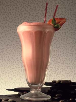 Strawberry-Banana Soy Smoothie: this dairy-free smoothie is great option for liquid nourishment.