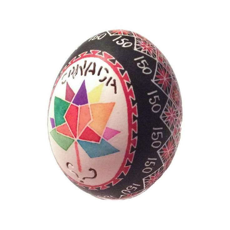 The Canada 150 celebrations continue at day 2 of the Cobourg Waterfront Festival.  Look at this amazing egg my mom Irene Johnston created to mark this milestone year! . #canada150 #eggart