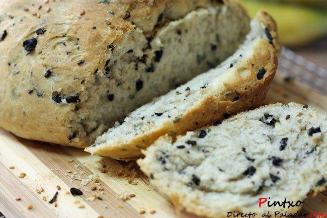 Receta de pan de aceitunas griego
