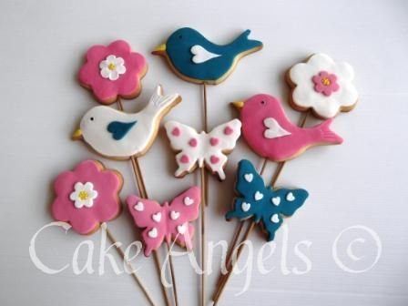 Bird , Butterfly and Flower Cookies