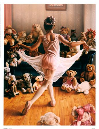 audience: Audition, Girl, Art, Ballerina, Ballet, Dance, Painting, Kid