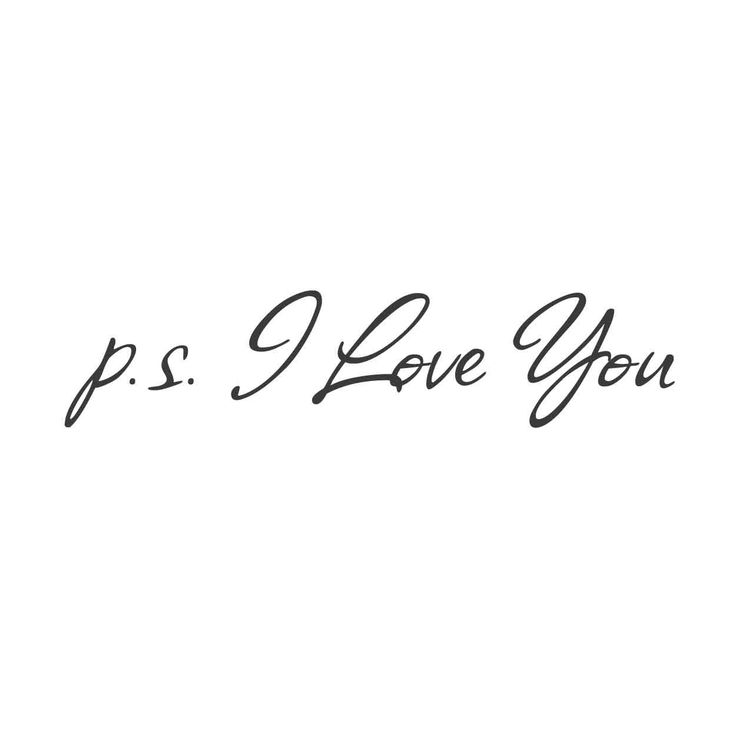 wall quotes wall decals - P.S. I Love You Vinyl | lifestyle