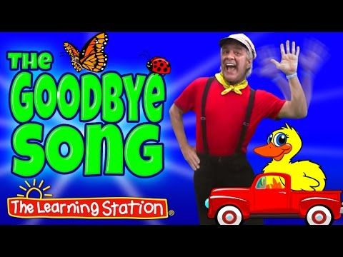 Goodbye Song by The Learning Station: This is a popular song and activity where children dance as they sing silly goodbye rhymes. End your day on a positive, happy note with this fun goodbye action song. This song is ideal for toddler, preschool and kindergarten age children.