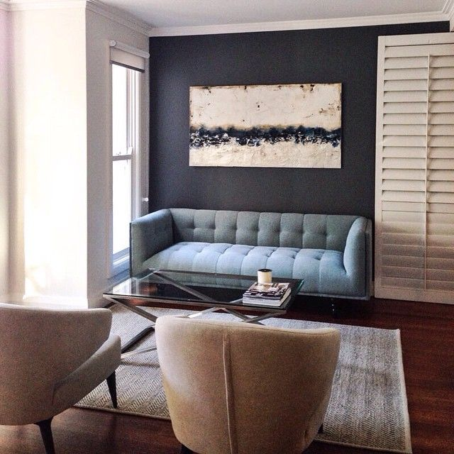 Loving the lounge room combo at our Woollahra job | Bogart sofa from @globewest + Wallcandy artwork + Herringbone rug from @armadilloandco + Hunter armchairs from @temperaturedesign + Scissor leg coffee table from @bloomingdaleslighting #angelasteynandco #interiordesign #interiorstyling