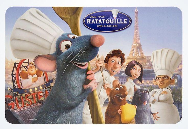 Disney Parks Pixar Ratatouille Chef Remy Magnetic Postcard New
