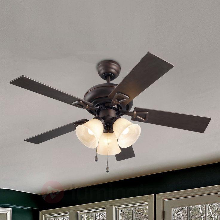 Ventilateur de plafond DOMINICA aspect rustique, référence 6026303 - Ventilateurs de plafond ou à poser chez Luminaire.fr !