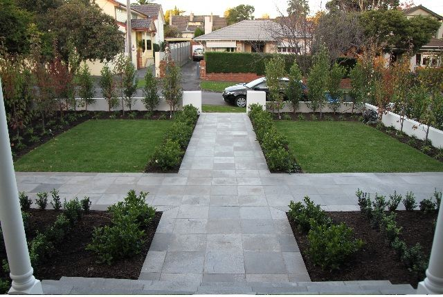 Formal Front Garden Ideas Australia symetrical small courtyard gardens australia - google search