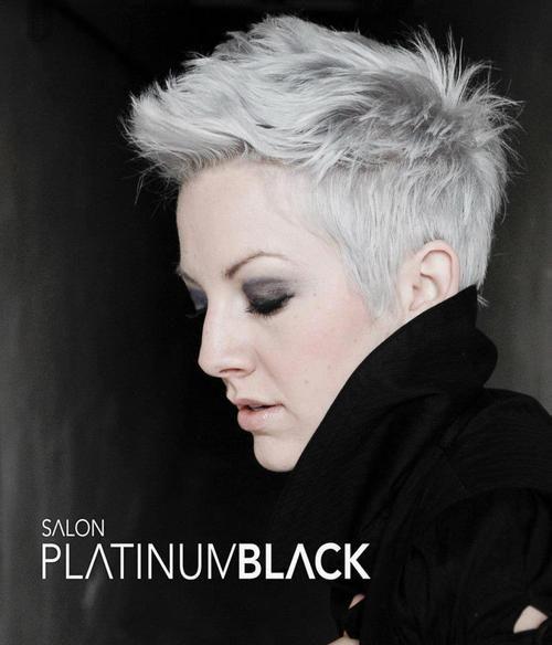 platinum pixie / short hair