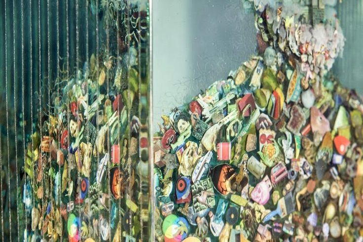 Psychogeographies: 3D Collages Encased in Layers of Glass by Dustin Yellin sculpture glass collage
