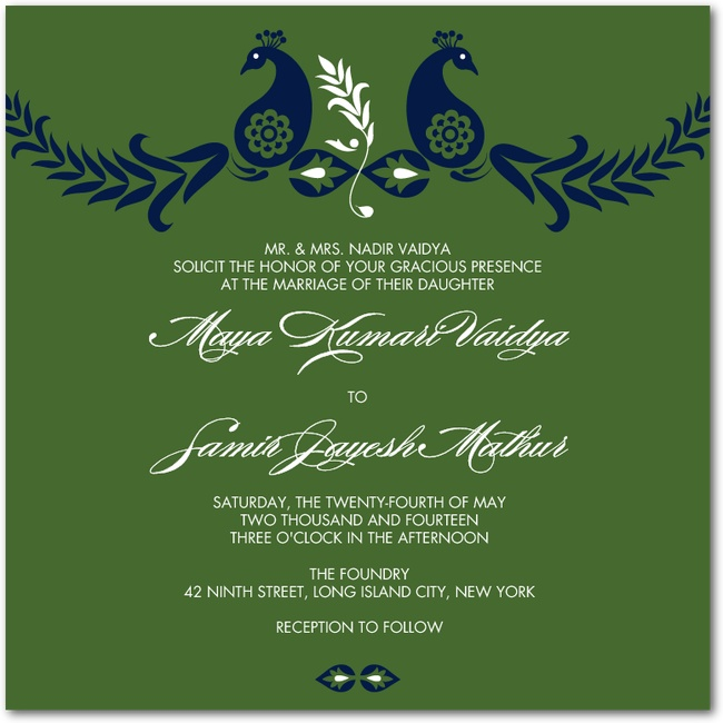 14 best wedding invite images on pinterest indian wedding Indian Wedding Invitations Green Street modern peacock promise invitation from wedding paper divas indian wedding invitations green street