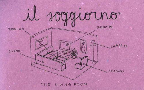 Learning Italian Language ~ Il soggiorno (the living room) IFHN