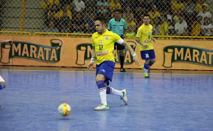Brasil x Paraguai, futsal, Brasil, Paraguai, Sorocaba, Falcão (Foto: Yuri Gomes/ Elite Comunicação)