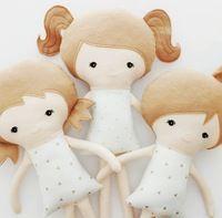 Милые плюшевые куклы девушки для ребенка/тряпичная кукла с волос плюша плюшевые тряпичные куклы