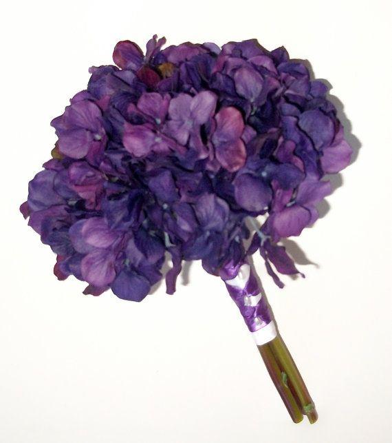 True Touch Hydrangea Wedding Bouquet Purple от shannonkristina