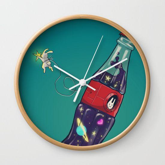 Bottleship 2 Wall Clock by Claudio Nozza Art   Society6