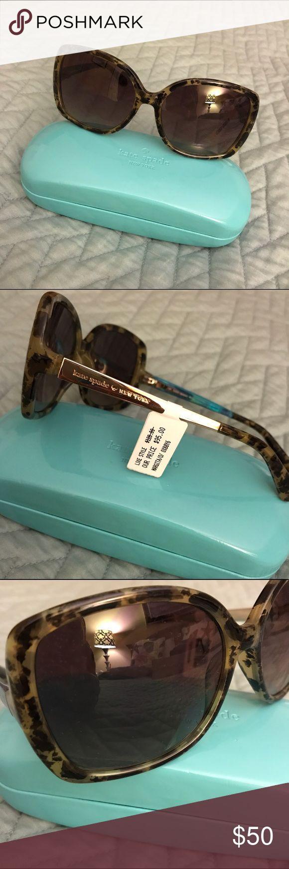 Kate Spade Sunglasses Tortoise Kate Spade sunglasses. Square shape. Never worn and tags on. Really cute style! kate spade Accessories Sunglasses