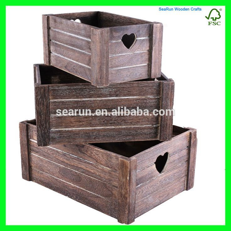 """""""Natural Color Wood Craft Wooden Crates, Cheap Wooden Fruit Crates for Sale, Wood Beer Wine Crate Box"""""""
