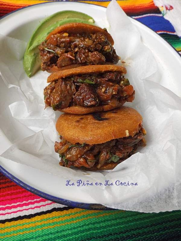 Braised Beef Gorditas~Salsa Borracha!