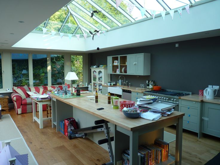 A Kitchen Orangery With A Large Roof Lantern Designed For A Lovely Family  Home By Moore
