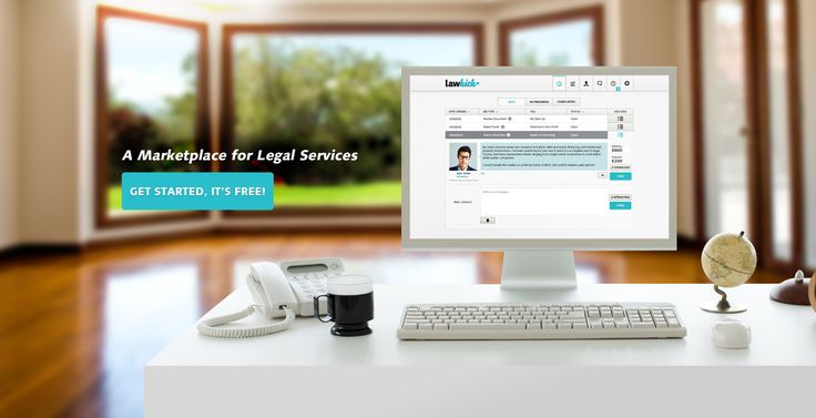 "I love websites that feel three-dimensional, and this new site for Legal Services (LawKick) accomplishes this via ""layers,"" with an expansive, happy-feeling, out-of-focus image in the background and focused, floating graphics + copy and a preview desktop screenshot of a sample attorney profile.  Cool."