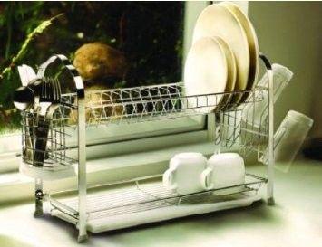 Amazon.com - Vanderbilt Home Deluxe 2 Tier Dish Rack - Two Tiered Dish Rack
