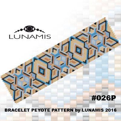 Bracelet pattern peyote pattern stitch by LunamisBeadsJewelry