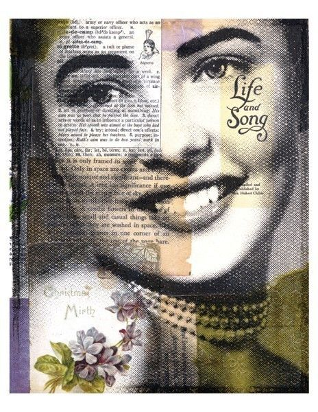 Michelle Caplan - Collage portraits. I love them!