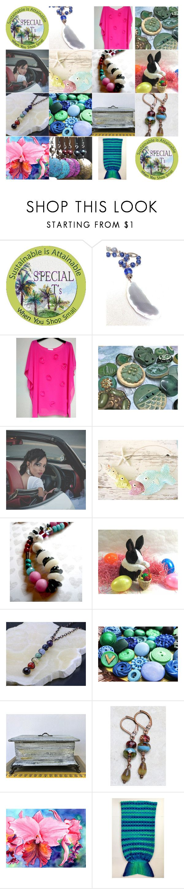 """""""Special TGIF"""" by artbymarionette ❤ liked on Polyvore featuring handmade, shopsmall, EtsySpecialT and specialTGIF"""