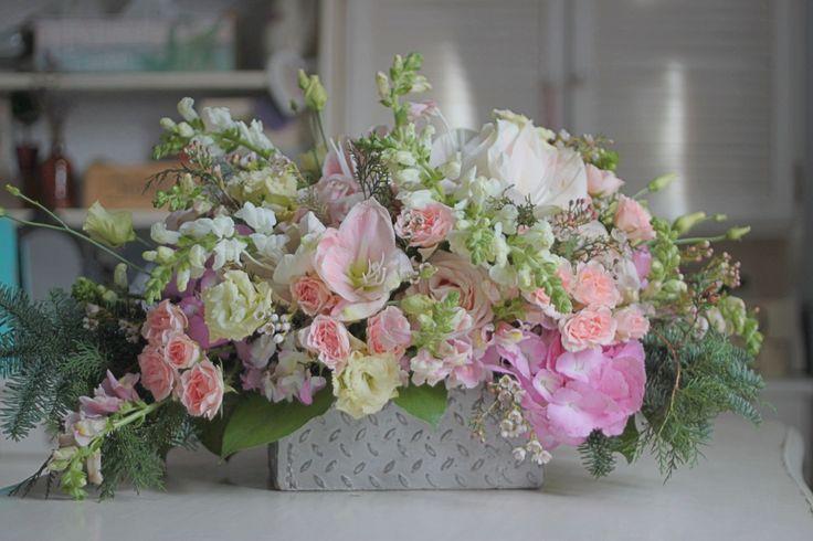 Blush flower arrangement