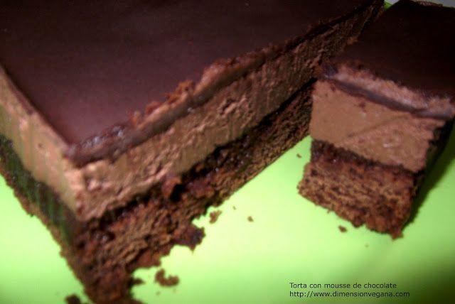 La Dimensión Vegana: Tortas Mousse Chocolate / Frutilla