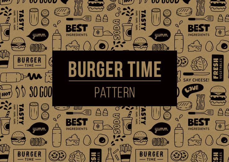 Burger Time Pattern by veee4victory on Etsy