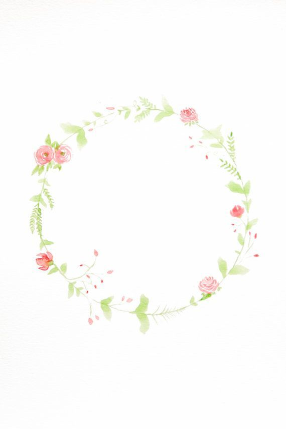 Watercolor Floral Wreath: Watercolor Floral Wreath