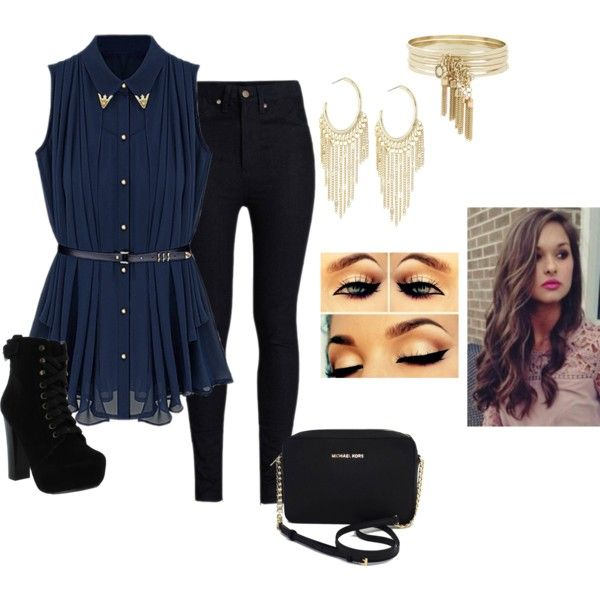 random outfit by bunnykayes on Polyvore featuring polyvore мода style Rodarte Chelsea Crew Michael Kors Lydell NYC BCBGeneration
