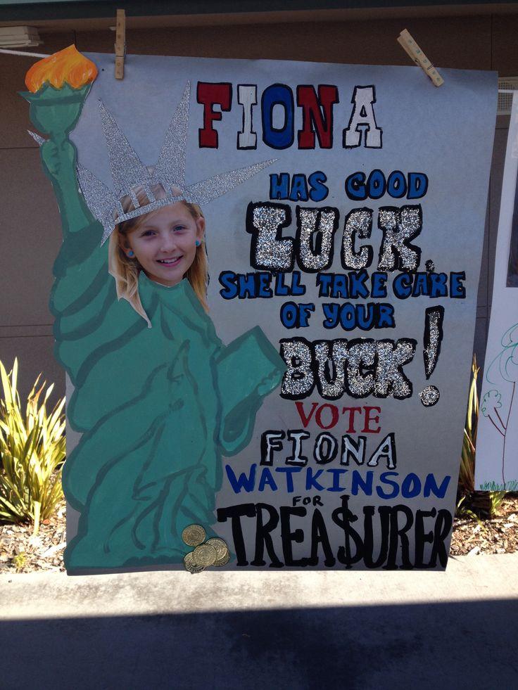 Fiona S Poster For Class Treasurer School Election