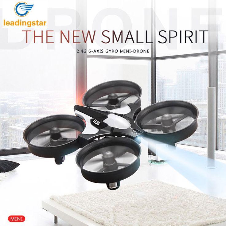 H36 Mini Drone RC Quadcopter 2.4G 6-Axis Gyro 4 Saluran LED Headless Modus Satu Kunci Kembali RC Helikopter RTF Quadcopter Dron Mainan