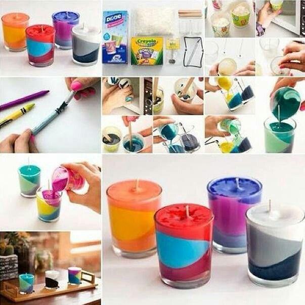 Diy Robimy kolorowe świeczuszki :3 Yeah