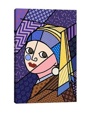 Girl With a Pearl Earring 3 (After Johannes Vermeer) Canvas Giclée Print